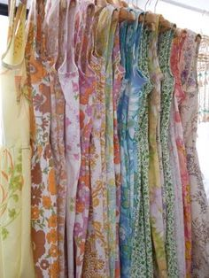 Beautiful dresses made from vintage sheets.