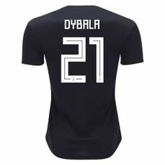 2018 World Cup Jersey Argentina Away Dybala Replica Black Shirt Argentina World Cup 2018, World Cup Jerseys, Jersey Atletico Madrid, Cheap Online Shopping, Fifa World Cup, Jersey Shirt, Soccer Jerseys, Shirts