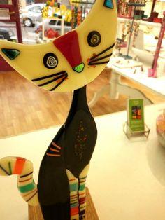 Escultura, gatito. By https://www.facebook.com/besos.devidrio