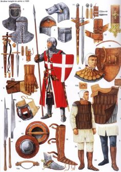 Historical Warrior Illustration Series Part V – The Lost Treasure Chest Medieval Weapons, Medieval Knight, Medieval Fantasy, Armadura Medieval, Crusader Knight, Knight Armor, Knights Hospitaller, Knights Templar, Templer