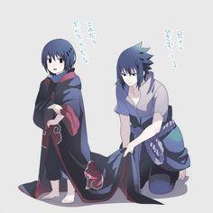 Akatsuki: Itachi y Sasuke Naruto Uzumaki, Anime Naruto, Naruto Sasuke Sakura, Sarada Uchiha, Naruto Cute, Anime Guys, Chibi, Naruto Team 7, Naruto Characters