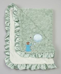 Another great find on #zulily! Green Blowing Bubbles Light-Up Musical Receiving Blanket by Twinkles of Joy #zulilyfinds