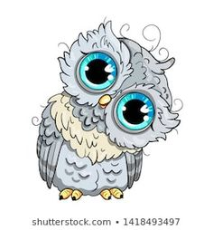 Find Cute Owl Cartoon Vector Bird Character stock images in HD and millions of other royalty-free stock photos, illustrations and vectors in the Shutterstock collection. Thousands of new, high-quality pictures added every day. Cartoon Drawings, Animal Drawings, My Drawings, Owl Feather Tattoos, Cute Owl Cartoon, Owl Facts, Polymer Clay Owl, Owl Pictures, Colouring Pics