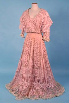 Trained Pink Tea Gown, c. 1905