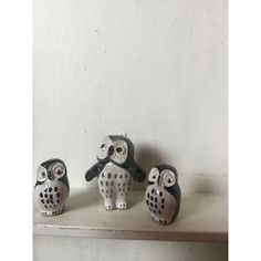 Owl Family Figurines (£15) ❤ liked on Polyvore featuring home and home decor