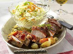 Bayerische Spezialitäten - mei, san die guat! - krustenbraten-krautsalat6  Rezept