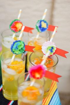 Cute Mexican Fiesta / Cinco de Mayo Party straws! Via Kara's Party Ideas | KarasPartyIdeas.com