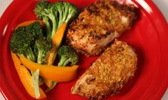 Air-Fried Honey-Ginger Crusted Chicken