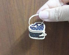 Tiny wicker basket used to made of rattan and bamboo from Bangkok