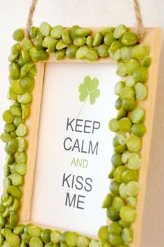 Click pic for 50 St Patricks Day Crafts for Kids - Split Pea Kiss Me Sign | Easy Crafts for Kids