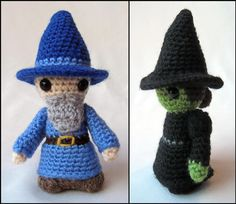Witch and Wizard Crochet Pattern (pay $4.26) Luna: http://www.ravelry.com/projects/jen2291/witch-and-wizard-mini-amigurumi-8 ; Hermione: http://www.ravelry.com/projects/jen2291/witch-and-wizard-mini-amigurumi-7 ; McGonagall: http://www.ravelry.com/projects/jen2291/witch-and-wizard-mini-amigurumi-6 ; Dumbledore: http://www.ravelry.com/projects/jen2291/witch-and-wizard-mini-amigurumi ; Snape: http://www.ravelry.com/projects/jen2291/witch-and-wizard-mini-amigurumi-2