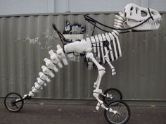 Who Among You Is Worthy To Ride This Mighty T-Rex Bike?