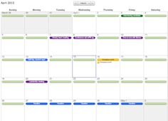Yearly Calendar Template  Household Organizers