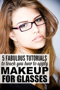 Whether you wear glasses all the time, or only on days when you're feeling too sick or tired to put your contacts in, these makeup tips for glasses are for you. Not only will they teach you the best kept secrets for applying makeup with glasses, but they will also give you some good pointers on which makeup products will really make your eyes pop!