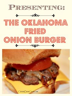 Oklahoma Fried Onion Burgers by karen l - Key Ingredient Delicious burgers made with fried onions for added flavor resulting in the perfect recipe for making hamburgers indoors. Oklahoma Fried Onion Burgers are exactly what. How To Make Hamburgers, How To Cook Burgers, Beef Burgers, Hamburger Recipes, Meat Recipes, Cooking Recipes, Hamburger Buns, Grilling Recipes, Deserts