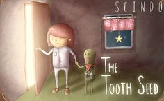 """Artwork from our children story """"The Tooth Seed"""". Out for iPhone/iPad worldwide in July, 2013."""