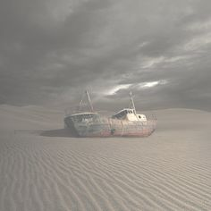 50% T transparency ship in sand