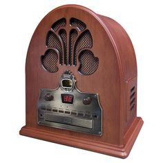 Found it at Wayfair - Old Fashioned Cathedral CD & Radio Player in Paprika