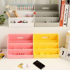 Diy plastic desktop storage box multifunctional storage box cosmetics finishing