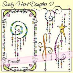 Swirly Heart Dangles 2