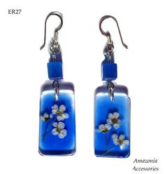 Real Flower Earrings unique gift for her by AmazoniaAccessories, €14.00