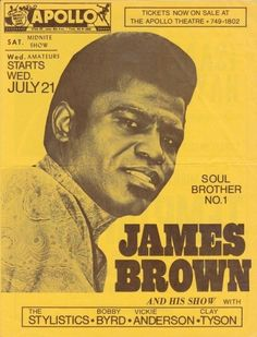James Brown concert poster.