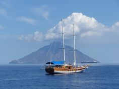 travel to the Aeolian Islands. During our sailing holiday visit the most active volcano in Europe, Stromboli! Our gulet cruise is the ideal vacation to discover Sicily Sailing Holidays, Active Volcano, Stromboli, Sicily, Sailing Ships, Cruise, Europe, Boat, Vacation