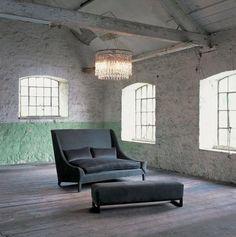 Daxie Ottoman from OCHRE #housebeautiful #dreamlivingroom