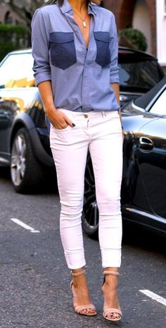 How To Style Ladies White Pants In 2017