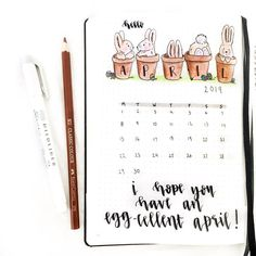 Are you excited to design your Bullet Journal for easter? Everything from a monthly easter spread to a mood tracker. Birthday Bullet Journal, April Bullet Journal, Bullet Journal Monthly Spread, Bullet Journal Cover Ideas, Bullet Journal Writing, Bullet Journal Inspo, Bullet Journal Layout, Bullet Journal Ideas Pages, Bullet Journal First Page