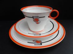 This pattern is normally seen on the Vogue shape (pattern No 11879). Condition: All 3 pieces are in very good clean condition with no chips, cracks or crazing or signs of ware. All paintwork and enamelling is in good order with no fading to the pattern. | eBay!