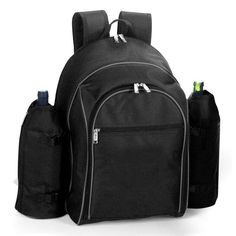 Picnic Plus PS4-420BL Stratton Picnic Backpack for 4 Person in Black