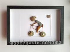Pebble art cycling gift art Rock art girlfriend birthday