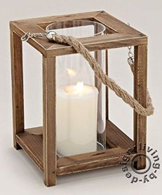 Diy Wooden Projects, Wood Block Crafts, Wooden Crafts, Wooden Diy, Lantern Candle Holders, Candle Lanterns, Rustic Lanterns, Rustic Lighting, Diy Woodworking