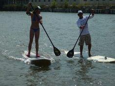 Paddleboarding in Big Bear Lake - FUN!!