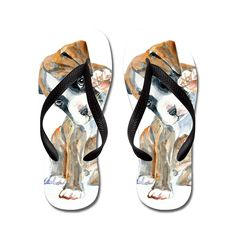 JKYUKO A Cute Dog flip flops ** Find out more about the great product at the image link.