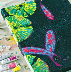 Who says adults can't finger paint? Learn to paint these beautiful Koi fish with Finger Painting Weekend Workshop!