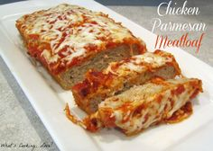 Chicken Parmesan Meatloaf ~ via  Whats Cooking Love?