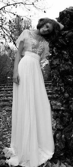 Precioso vestido en dos piezas. #Inspiración vestidos de novia