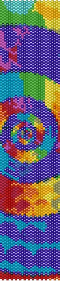 Peyote Beading, Beaded Bracelet Patterns, Beading Patterns, Beaded Bracelets, Color Swirl, Color Harmony, Etsy Store, Spiral