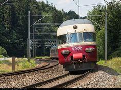 High quality photograph of SBB Historic RAe TEE II # 1053 at Winterthur, Switzerland. Winterthur, Europa Express, Rail Transport, Exotic Places, Locomotive, Swiss Railways, Switzerland, Transportation, The Unit