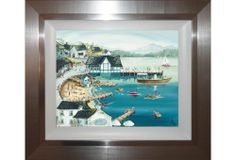 Sunny Ambleside framed art from our Casa collection. Made in the UK. Size : 73cm (H) 63cm (W) (Approx.)