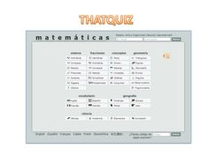 Thatquiz es un sitio web que te facilita generar ejercicios y ver los resultados demanera inmediata. Este sitio es usado por alumnos y profesores de todo elmun…