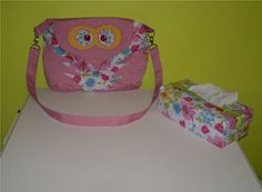 Sharon Gray's Betsy Owl bag and tissue box cover!