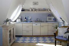 Küche in der Studio-Ferienwohnung von Haus Anholt.