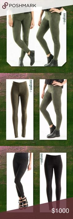 JUST IN🆕Olive Suede Full Length Leggings New Faux Suede Leggings  Fitted legging. Elastic at waist. This legging is made with light weight, faux suede fabric that is very soft and has excellent stretch. Material: Fabric 90% Polyester, 10% Spandex Made in U.S.A Color: Black, Olive Sizes Avail: Small, Medium, Large Fits true to size  💠💠PRICE FIRM UNLESS BUNDLED💠💠 ⭐️⭐️SORRY NO TRADES AND LOWBALL OFFERS WILL BE IGNORED ⭐️⭐️ 🌺🌺ADDITIONAL MEASUREMENTS AVAIL UPON REQUEST 🌺🌺 Glam Squad 2…