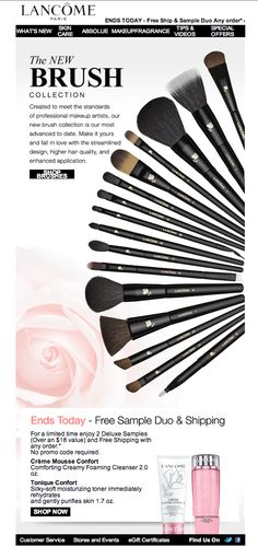These look nice.. Trying to figure out what brushes to get is so hard #lancome #mac or #sigma