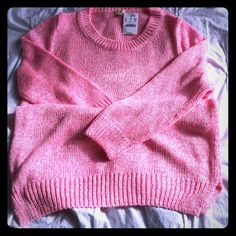 NEW JCrew knit sweater Hot bright pink soft knit sweater. 100% acrylic. Easy and fun to wear. J. Crew Sweaters