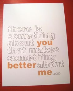 Something Special About you Print: Crispy profession of Love to share with someone great