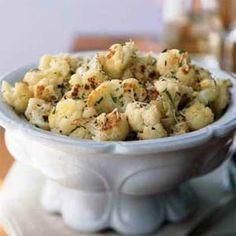Roasted Cauliflower with Fresh Herbs and Parmesan Recipe...sounds great for the holidays!!